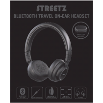 Headset STREETZ bluetooth, black / HL-430