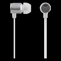 STREETZ stereo austiņas, auss, mikrofons ar tilpumu, sudrabs