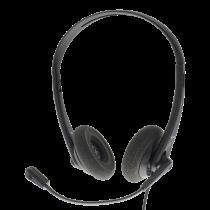 DELTACO Business USB austiņas, skaļuma regulēšana, trokšņu samazināšanas mikrofons
