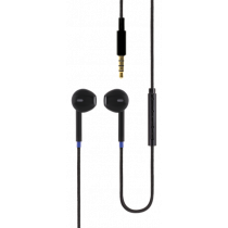 Mobile headphones with remote control and microphone, 3.5mm connection Blåmärke black / HLB-30