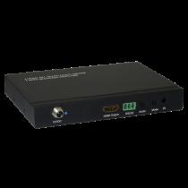 HDMI Datora vadīts slēdzis, 4 porti, tālvadības pults, 1080p, melns