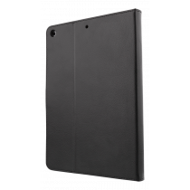 DELTACO iPad korpuss, vegāna āda, modināšanas funkcija, balsts, melns