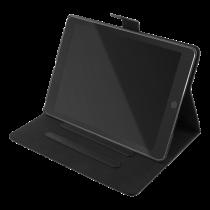 """DELTACO iPad 10.2 """"2020 apvalks, vegāna āda, miegs / modinātājs, statīvs"""