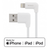 MFI apgaismojuma eņģelis uz USB A balts 1m