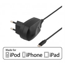 Wall charger DELTACO, 1m, black / IPLH-208