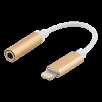 Epzi zibens līdz 3,5 mm adapterim, alumīnija apvalks, zelts