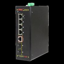 PoE switch, Deltaco, 4xRJ45, black / IPS33054PF