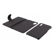 Wallet case Deltaco 2-in-1, for iPhone X, black / IPX-114