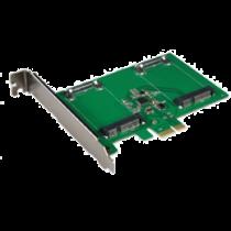 Dual mSATA SSD PCIe expansion card, 6 Gbps DELTACOIMP green / KCSSD2