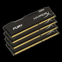 RAMs Kingston HyperX Fury Black DIMM, DDR4, 16GB (4x4GB), 2400MHz, CL15, 1.2V / KING-1865