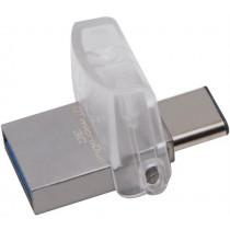 USB 3.1 memory Kingston DataTraveler microDuo 3C, 64GB, USB Type A ha and USB Type C, Gen 1, Silver DTDUO3C/64GB / KING-1918