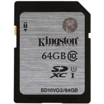 Memory card Kingston SDXC, 64GB, UHS-I Class 10, 45MB/s / KING-1923