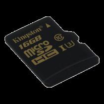 Memory card Kingston microSDHC 16GB, Class U3 UHS-I 90R / 45W / KING-2358