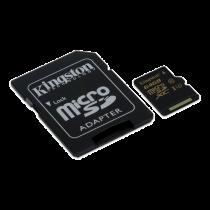 Memory card Kingston microSDHC 64GB, Class U3 UHS-I 90R / 45W + SD Adapter / KING-2361
