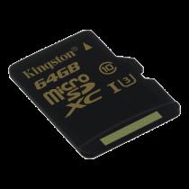 Memory card Kingston microSDHC 64GB, Class U3 UHS-I 90R / 45W / KING-2362