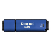 USB 3.0 memory Kingston DataTraveler Vault Privacy Antivirus, 8GB, blue DTVP30AV/8GB / KING-2408