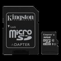 Memory card Kingston Canvas Select microSDHC, 32GB, Class 10 UHS-I, incl. SD card adapter, black SDCS/32GB / KING-2581