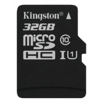 Memory card Kingston Canvas Select microSDHC, 32GB, Class 10 UHS-I, black SDCS/32GBSP / KING-2582