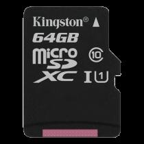 Memory card Kingston Canvas Select microSDXC, 64GB, Class 10 UHS-I, black / KING-2584