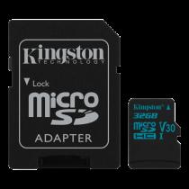 Memory card Kingston Canvas Go microSDHC, 32GB, incl. SD card adapter, black / KING-2595