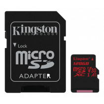 Kingston Canvas React microSDXC card, 128GB, incl. SD card adapter, black SDCR/128GB / KING-2607