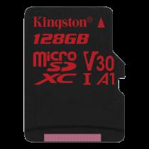 Kingston Canvas React microSDXC card, 128GB, black / KING-2608
