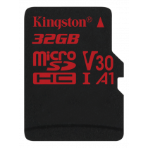 Kingston Canvas React microSDHC card, 32GB, black / KING-2610