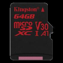Memory card Kingston Canvas React microSDXC, 64GB, black / KING-2612