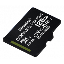 Kingston 128GB micSDXC Canvas Select Plus 100R A1 C10 1-pack w/o ADP