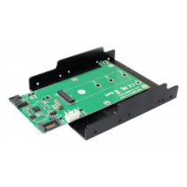 "SATA to M.2 (NGFF) converter KT023B, M.2 SATA SSD with B-mount, 3.5 "" DELTACOIMP black/ green / KT023B"