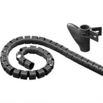 Nylon wire tube, 25mm diameter tool included, 5m DELTACO black / LDR11