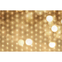 Curtin gaismas, 90x90, 3m, 120LED, adapteris, WW