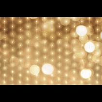 Aizkaru gaismas, 120x120 cm, 4m, adapteris, 240LED, WW