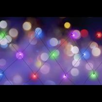 Aizkaru gaismas, āra, 120 x 150 cm, 18 LED, adapteris, daudzkrāsains
