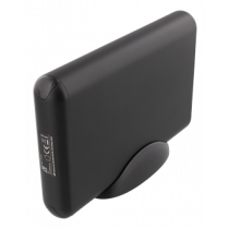 DELTACO USB-C HDD / SDD korpuss, 2,5 / 3,5 collu, USB 3.1, 10 Gb / s, melns