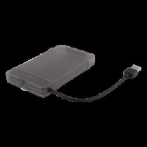 "DELTACO 2,5 ""ārējais HDD / SSD korpuss, USB 3.1 Gen 1, SATA 3.0, UASP"