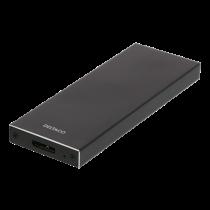 DELTACO ārējais M.2 skapis, USB 3.0, 5 Gbps, melns