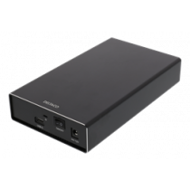 DELTACO ārējais 3,5 collu HDD korpuss, USB-C, USB 3.1 Gen2, 10 Gbps, bla