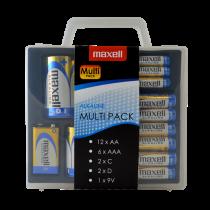 Maxell Alkaline Battery Multi-Pack, AA / AAA / C / D / 9V, aizsargplāksne, bl