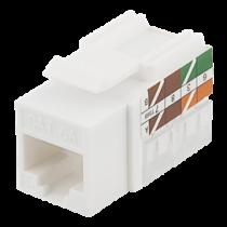 DELTACO Cat6A Keystone socket, LSA / 110 termination, plastic, 90, white / MD-124