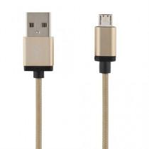 "PHONE CABLE DELTACO PRIME USB 2.0 ""A-MICRO B"", 2.0M, GOLD / MICRO-114"