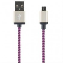 "Mob. telefona kabelis  STREETZ USB 2.0 ""A-micro B"", 1.0m, violets  / MICRO-118"