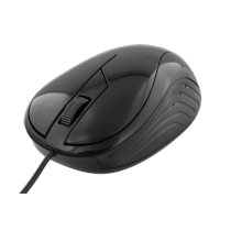 Mouse DELTACO, wired, 1.2m cable, 1200 dpi, black / MS-463