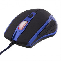 Mouse DELTACO 600-2400 DPI, 250Hz, USB, black/blue / MS-602