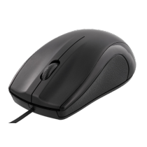 Mouse DELTACO, wired, 1.2m cable, 1200 dpi, black / MS-711