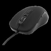 DELTACO Optiskā klusā pele, vadu, ergonomiska, mīksta pieskāriena gumija, 800