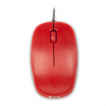 NGS Flame red, DESKTOP OPTICAL WIRED MOUSE. 1000 DPI, SCROLL, REGULAR SIZE