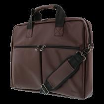 DELTACO klēpjdatoru soma 15,6 collu klēpjdatoriem, 6 kabatas, brūna