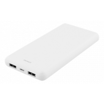 DELTACO 10 000 mAh Power banka, 2x USB-A, 2.1A, LED indikators, balts