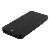DELTACO 10.000 mAh Li-Po Power Bank with USB-C, black / PB-830